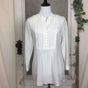 Theory Aldys/Pristine Blouse Peasant Top M